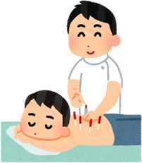鍼灸施術のイラスト